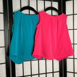 Old Navy Sleeveless Blouse Shirts Pink Teal 4T